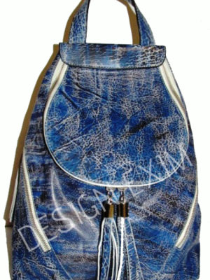 CODE 03           LEATHER BACKPACK  WASHED