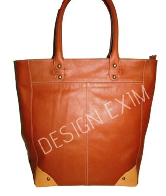 CODE 28   LEATHER SHOPPER'S BAG