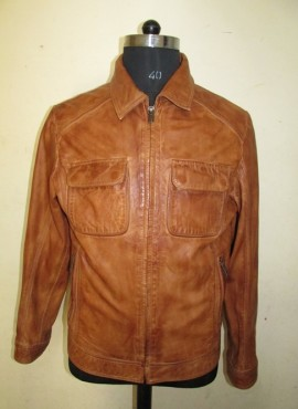 CODE  M01   WASHED LEATHER JACKET