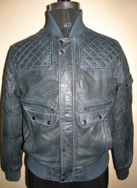 CODE M07   QUILTED LEATHER JACKET