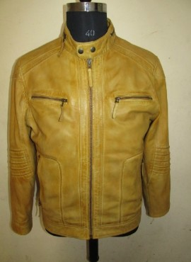 CODE M19  WASHED LEATHER JACKET