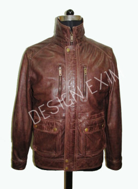 STYLE-14,leather-lamb fire ,col-brown